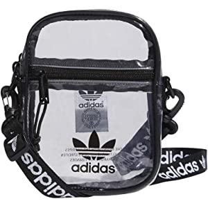 One Size Agron Inc adidas Bags adidas Originals Festival Crossbody Bag Black//White CL2283