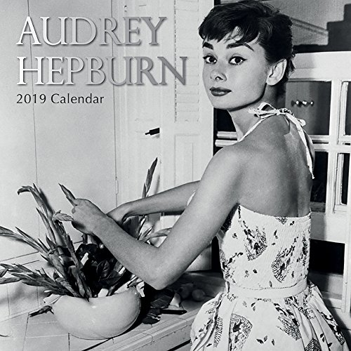 2019 Wall Calendar - Audrey Hepburn Calendar, 12 x 12 Inch Monthly View, 16-Month, Famous 50s Actress Celebrity Icon, Includes 180 Reminder Stickers