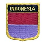 "Indonesia Flag Patch / International Emblem Iron On Badge (Indonesian Crest, 2.75"" x 2.35"")"