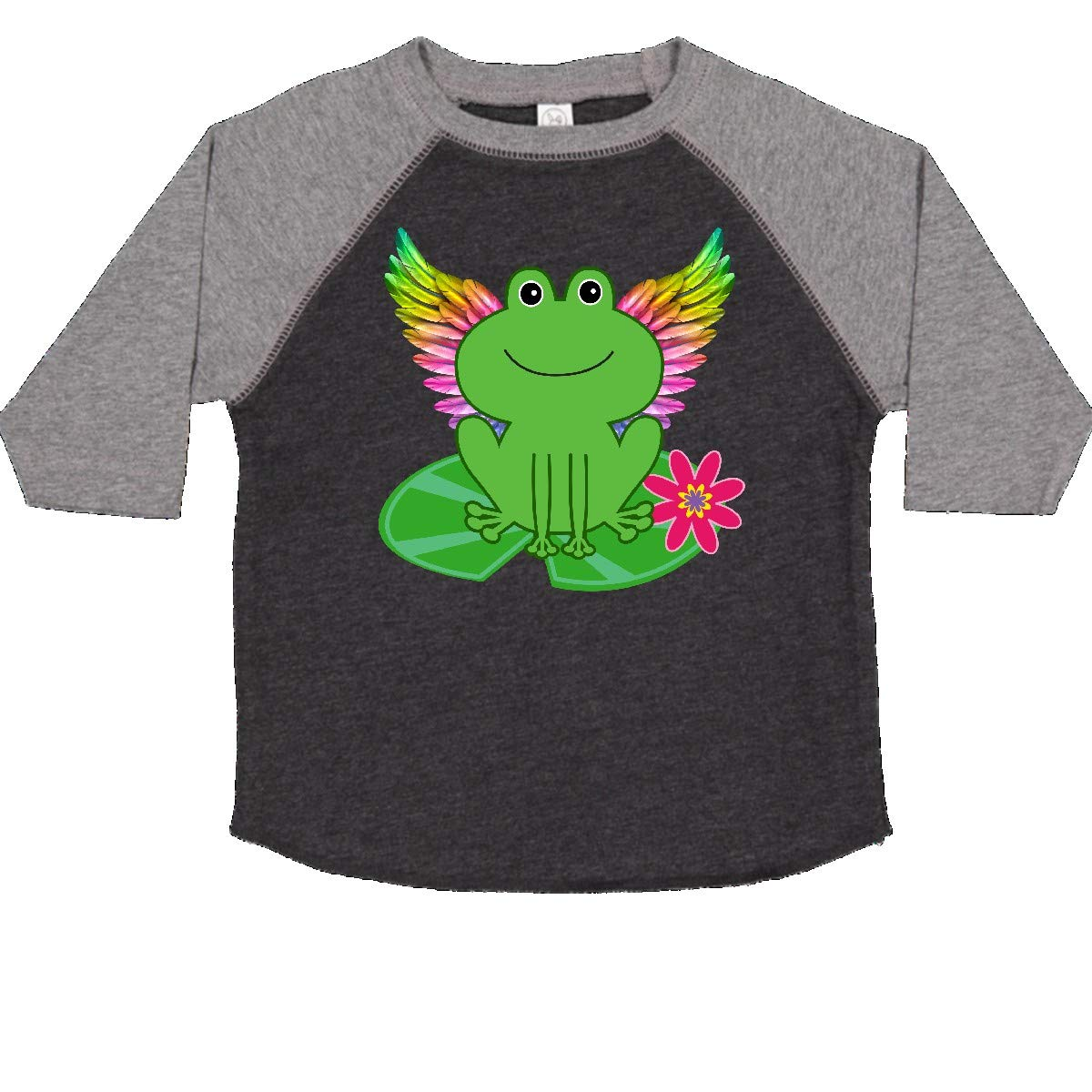 inktastic Frog Lily Pad Wings Toddler T-Shirt
