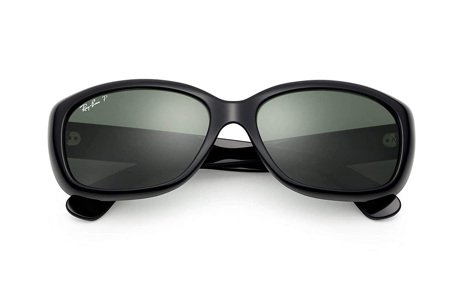 bca34492796 Amazon.com  Ray Ban RB4101 601 58mm Black Crystal Green Jackie Ohh  Sunglasses Bundle-2 Items  Clothing