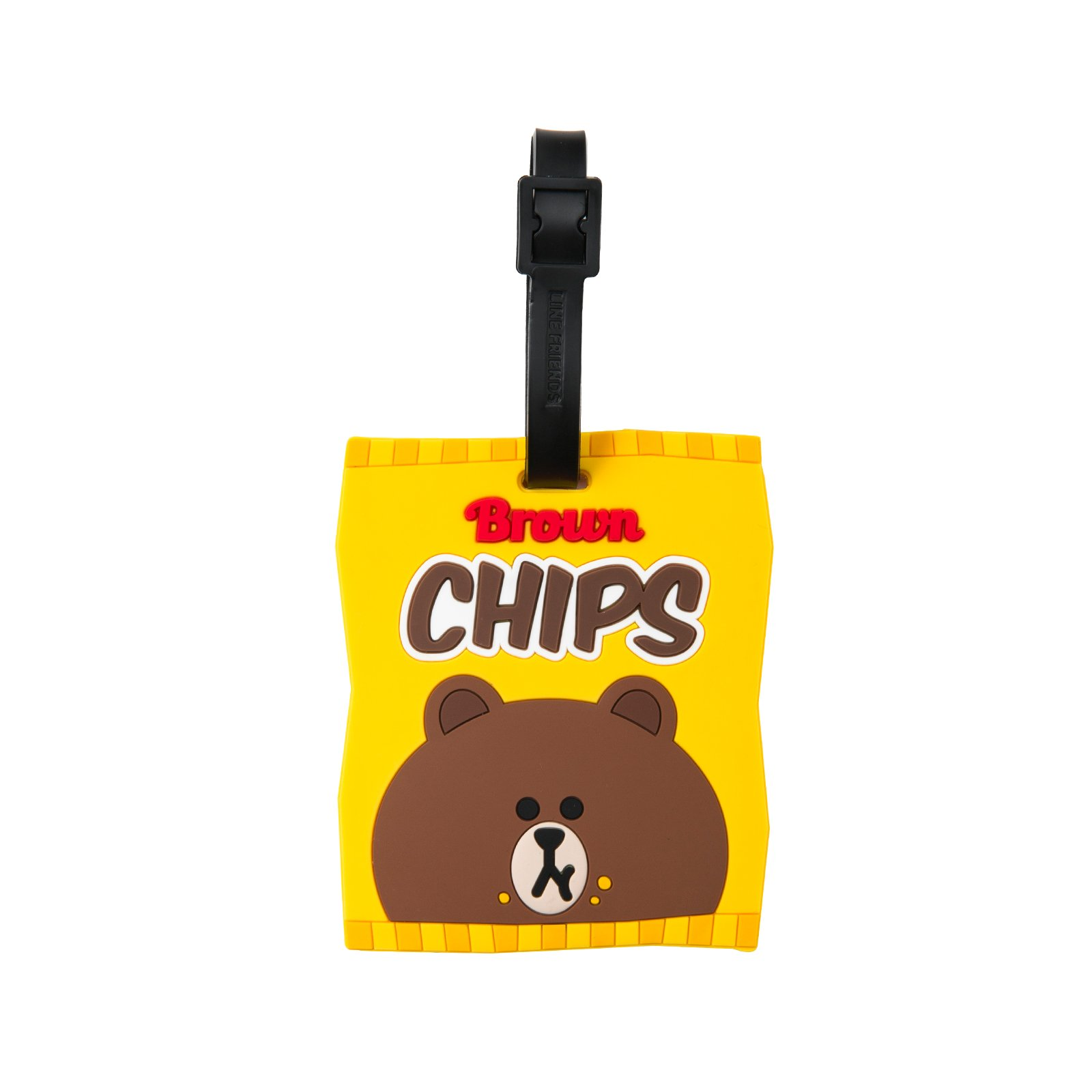 LINE FRIENDS Brown Chips Travel Luggage Tags One Size Yellow