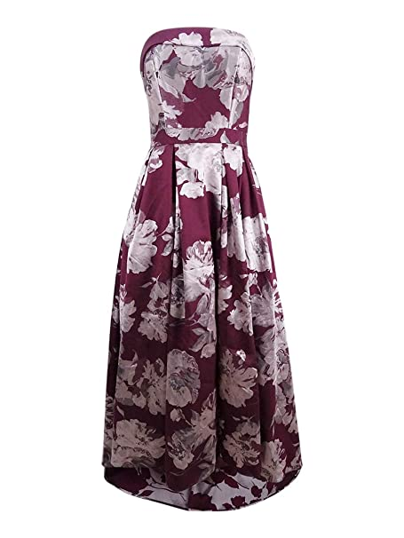 3fdd9937 Xscape Women's Floral-Print Brocade Strapless Gown (6, Wine) at Amazon  Women's Clothing store: