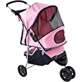 Pampered Pet Jogging Stroller for Small Dogs and Cats