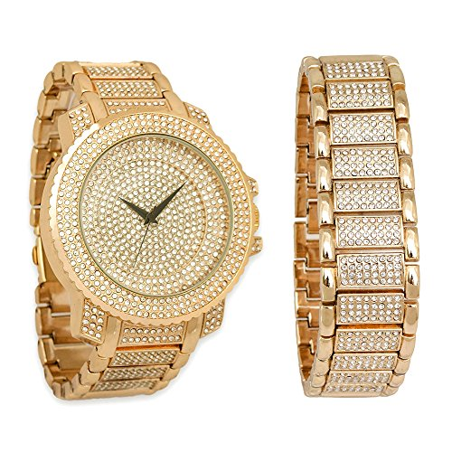 iced out gold watch - 9
