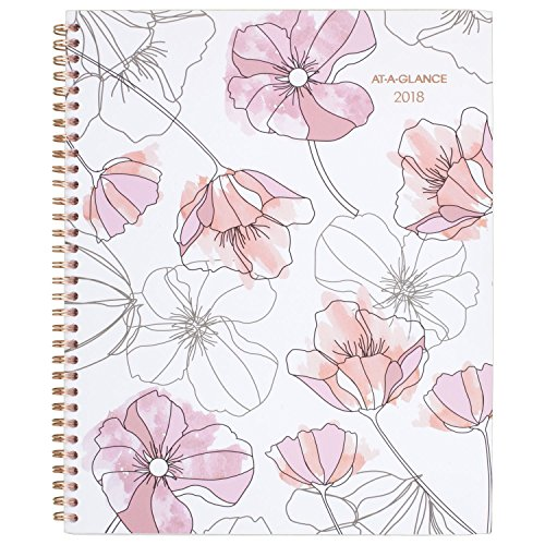 "AT-A-GLANCE Monthly Planner, January 2018 - December 2018, 8-1/2"" x 11"", Blush (1041-900)"