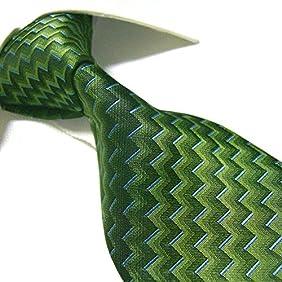 Extra Long Fashion Tie by Towergem,Green XL Men's Necktie