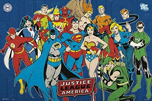 Poster Puerta Dc Comics Justice League Of America