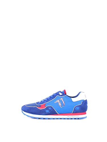 Herren Sneaker Royal Blu/Red, Royal Blu/Red - Größe: 45 Trussardi