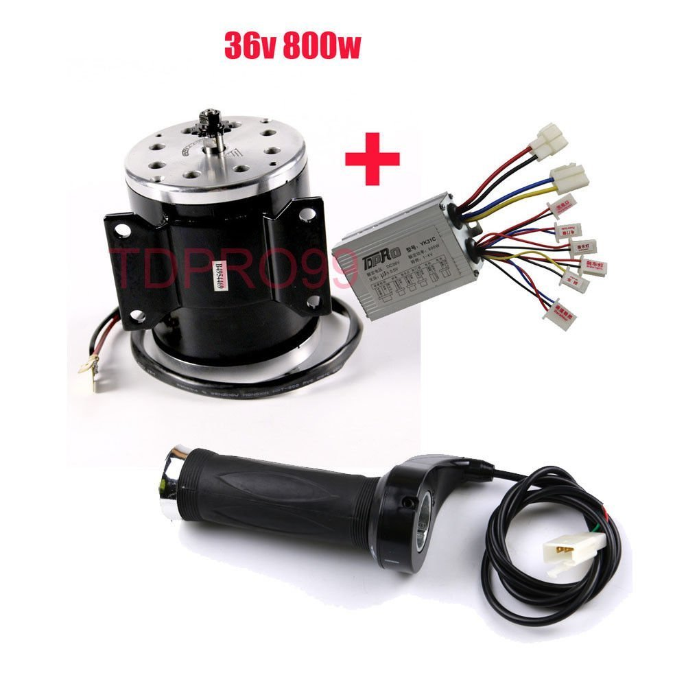36V 800W Scooter Motor Brushed Speed Controller Throttle Twist Grip Electric Bik by scooter