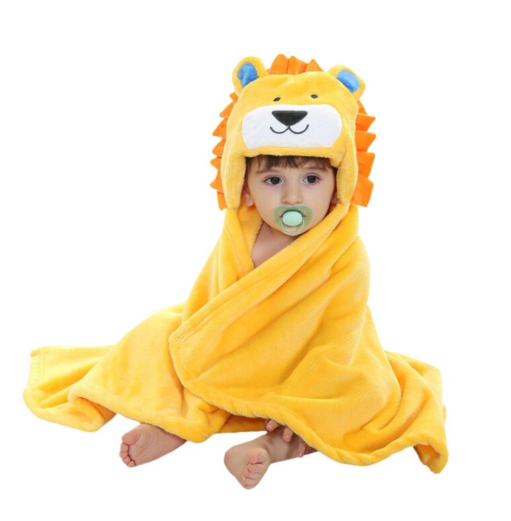 CuteOn Bambino Asciugamani Animale Cappuccio Asciugamano Bello Bambino Bagno Asciugamano Bambino Accappatoio Per Neonato I neonati - Leone