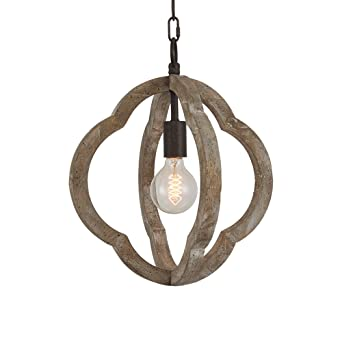 Docheer 1 light vintage wooden iron chandelier pendant lamp metal docheer 1 light vintage wooden iron chandelier pendant lamp metal and wood frame orb chandelier mozeypictures Images