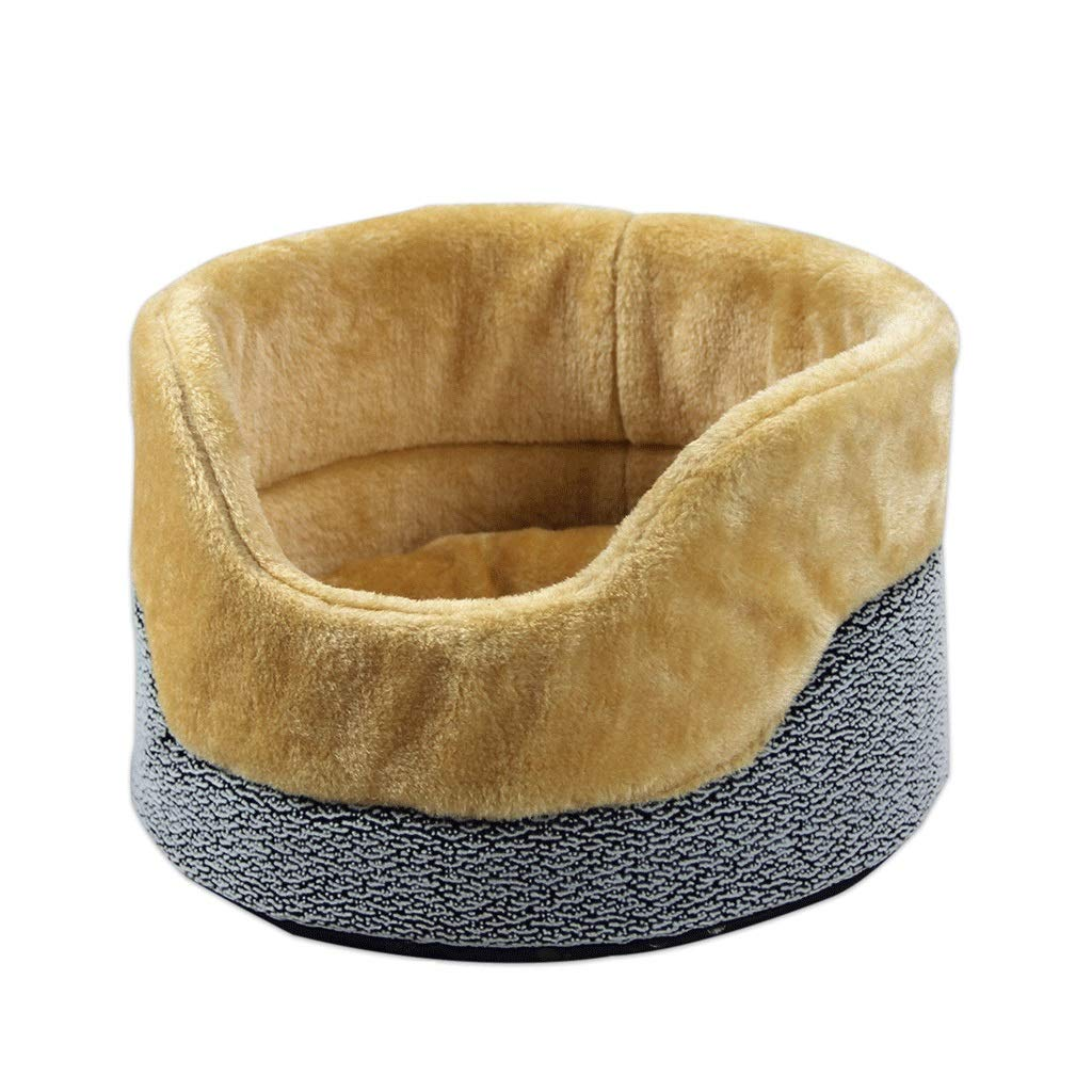 Design1 Big Design1 Big WANGXIAOLIN Pet nest, cat litter, cat bed, fence type, thick, warm, kennel, small, breathable, soft, all seasons (2 colors) (Design   Design1, Size   Big)