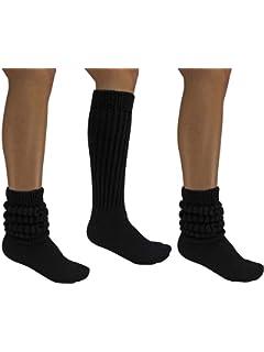 312fbce7c95 Women s Extra Long Extra Heavy Slouch Socks - 12 Pairs Size 9-11 (12 ...