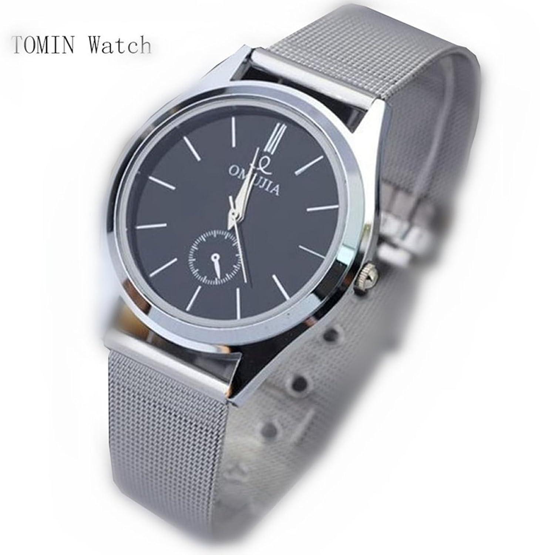 メンズ腕時計、Tominファッションラグジュアリーメンズレディースステンレススチールバンドクォーツ腕時計 B071RS7ZFD
