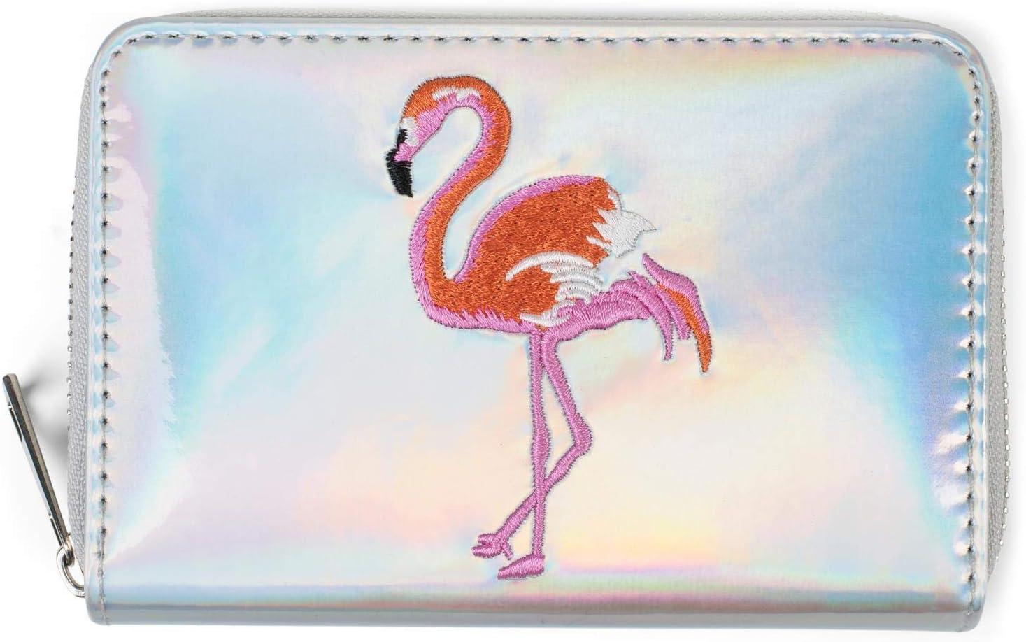 Porte-monnaie en toile pour femme Motif flamant rose cocorrina Unisexe