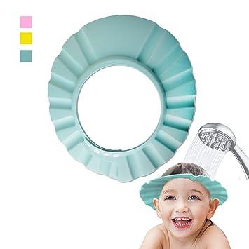 219fea09a15 Amazon.com   Vvhome Baby Hat Child Kid Shampoo Bath Shower Wash Hair Shield  Cap (green)   Baby