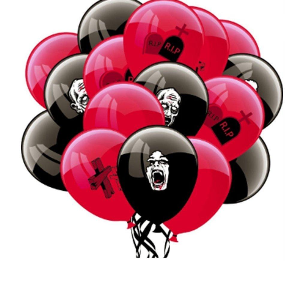 Slendima 16 Pcs Halloween Creative Latex Balloons,Cross Grave and Scary Zombie Halloween Decor Party Supplies
