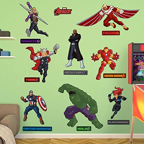 - Fathead Peel and Stick Decals Marvel Avengers Assemble Kids RealBig Collection Wall Decal