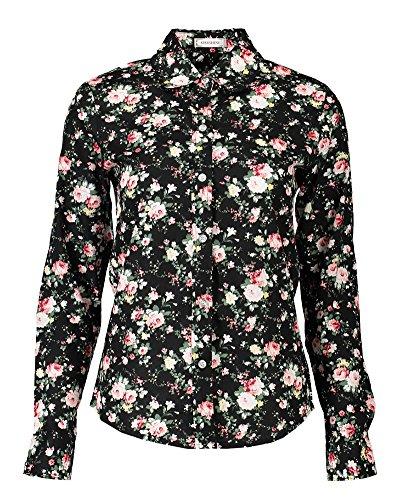 Shirt Longue Manche Blouses Fleurs PengGeng Style 3 Casual Femme Chemise Basic Tee O0OHaF