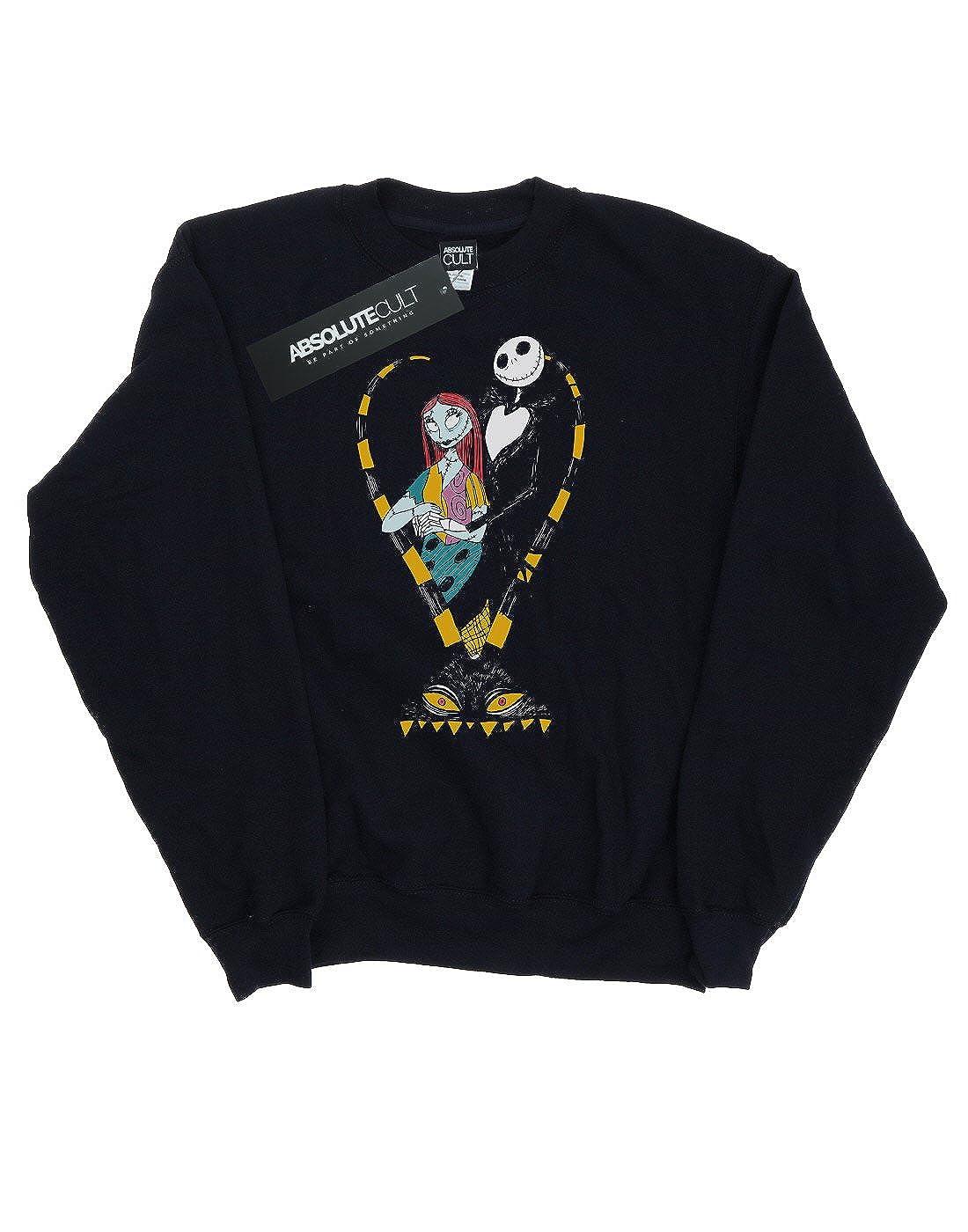 Disney Womens Nightmare Before Christmas Jack and Sally Love Sweatshirt