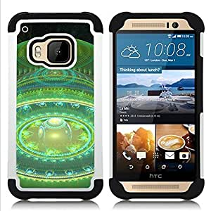 Dragon Case- Dise?¡Ào de doble capa pata de cabra Tuff Impacto Armor h??brido de goma suave de silicona cubierta d FOR HTC ONE M9- SPACE UNIVERSE BALL TIME ART RED PLANET