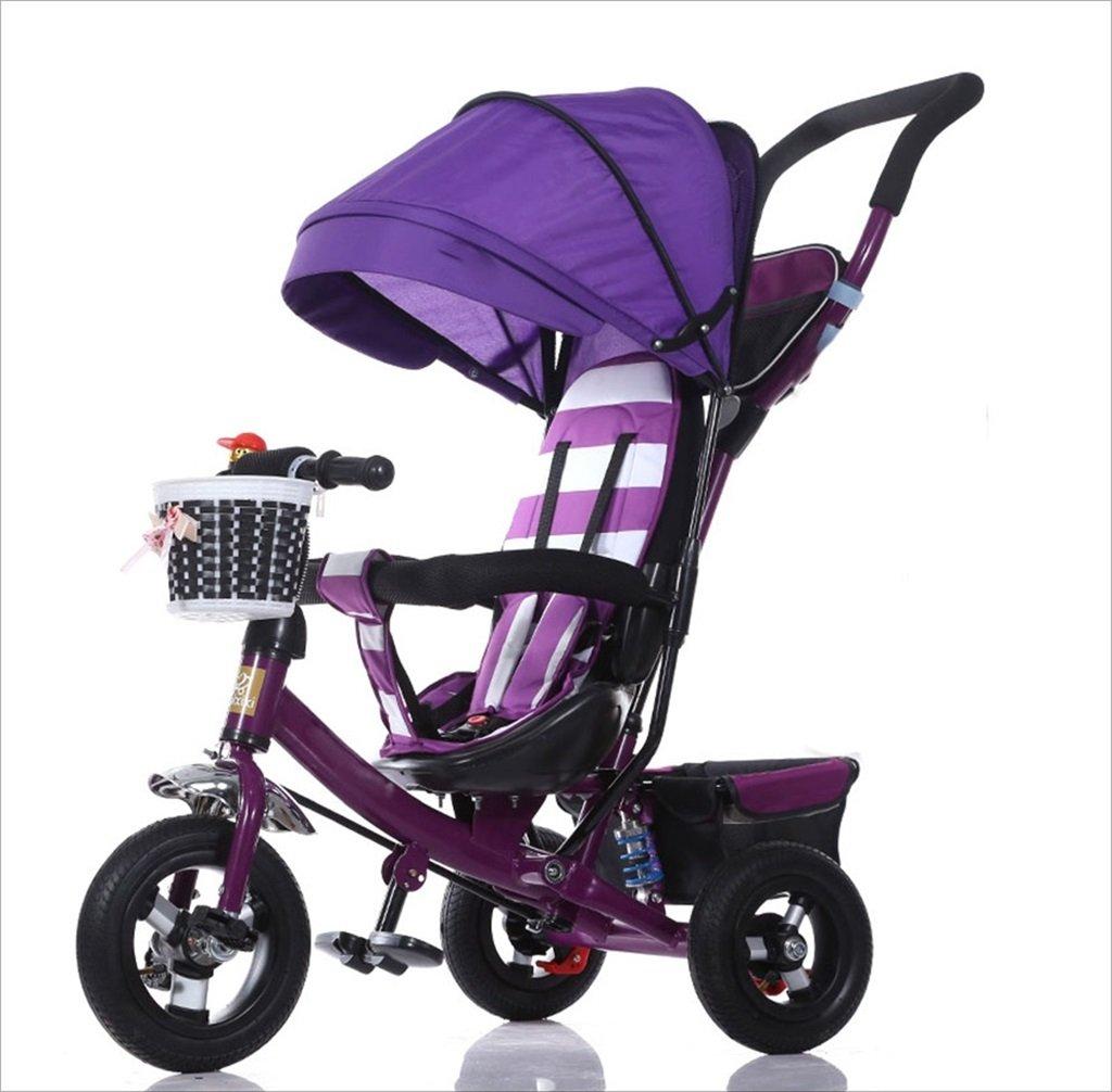 三輪車の赤ちゃんキャリッジバイク子供のおもちゃの車のチタンの車輪/泡ホイールの自転車3つの車輪、折り畳み式(ボーイ/ガール、1-3-5歳) (色 : パープル ぱ゜ぷる, サイズ さいず : B) B07DVJC563 B|パープル ぱ゜ぷる パープル ぱ゜ぷる B