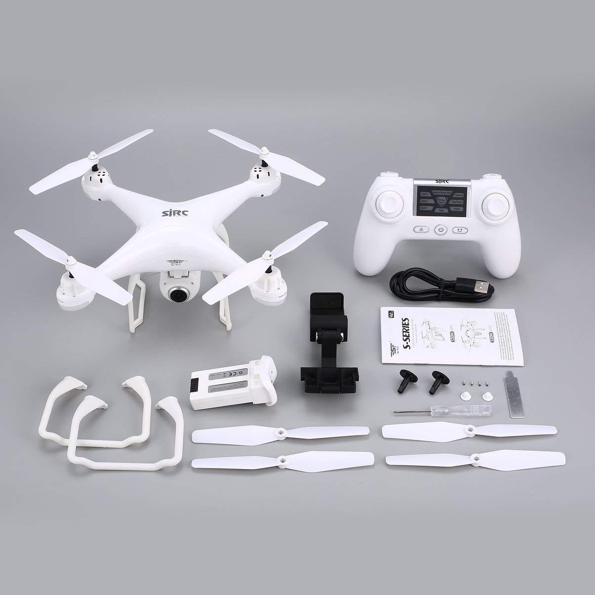 JullyeleESgant SJ R / C S20W FPV 720P Cámara Selfie Altitude Hold Drone Modo sin Cabeza Retorno automático Despegue / Aterrizaje Hover GPS RC Quadcopter