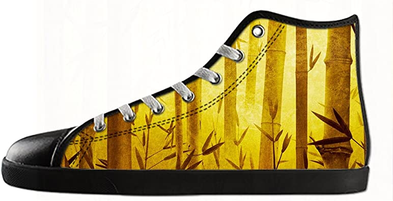 Customized Art Bamboo Top Canvas Shoes for Men