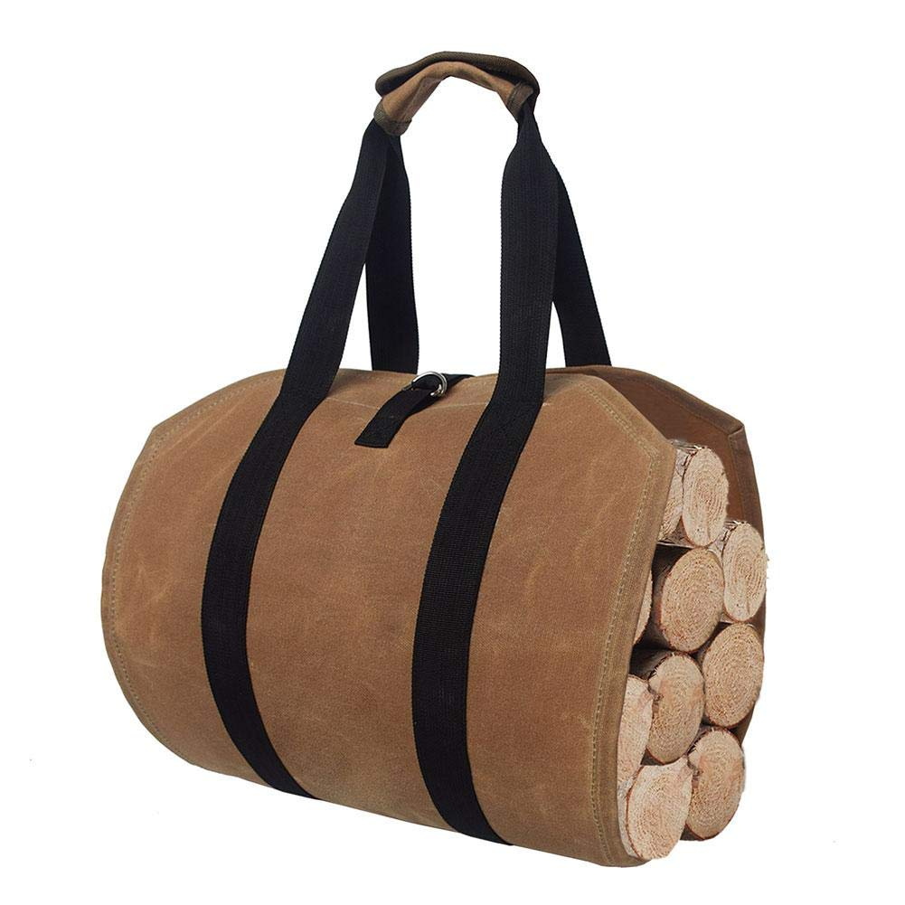 Ridecle Firewood Carrier,Firewood Bag Firewood Fireplace Carrier Logs Tote Holder Large Capacity Felt Wooden Bag Firewood Log Carrier for Fireplace Outdoor Fire Pit Or Bonfire by Ridecle