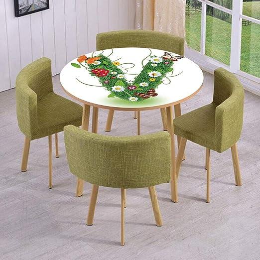 Runder Tisch Wand Bodenaufkleber Abnehmbar Buchstabe U Alphabet