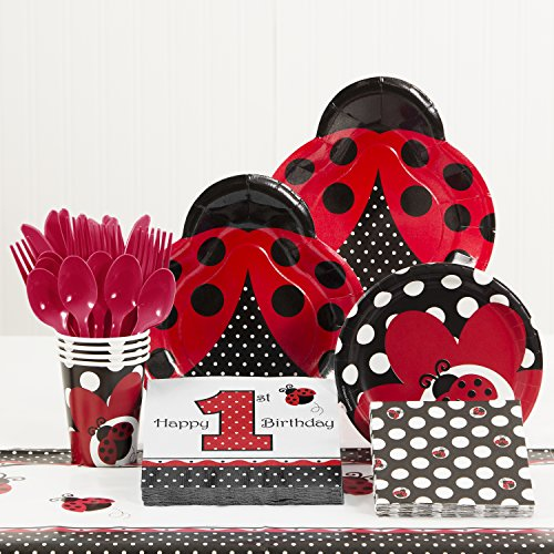 Ladybug Fancy 1st Birthday Party Supplies Kit for $<!--$18.95-->