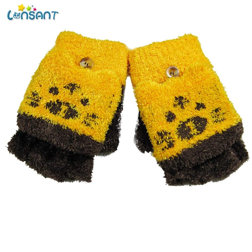 New Baby Cotton Gloves Striped Autumn Winter Warm Comfortable Baby Girls Boys Of Winter Warm Gloves