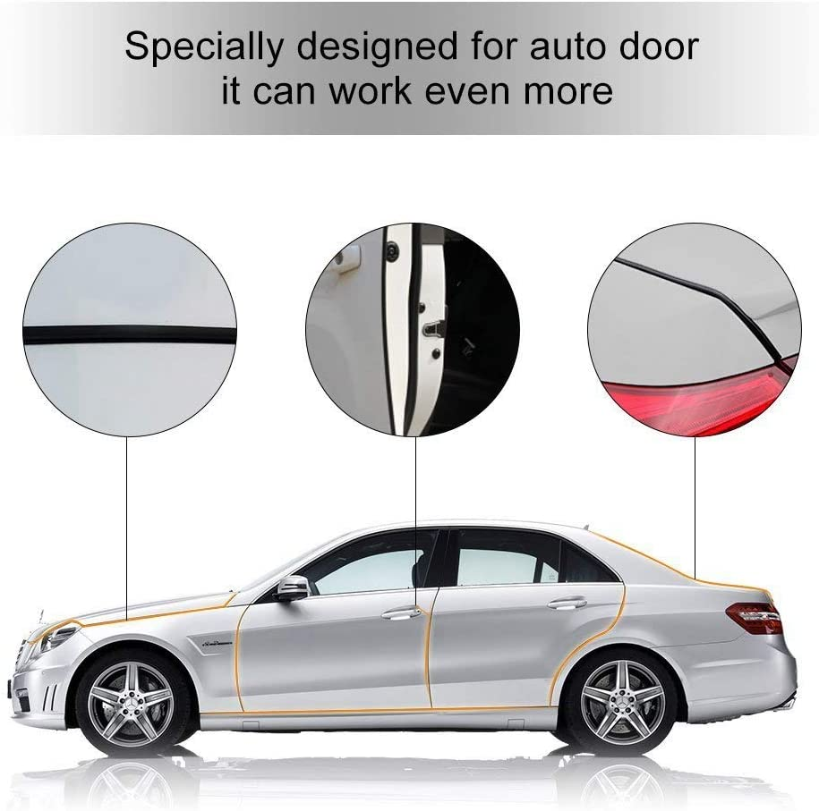 Ejoyous 5m Car Door Edge Protector Strip Car Trim Bumper Protector Fit Most Cars Anti-Collision Seal Flexible Door Sill Protector with Strong Adhesive White