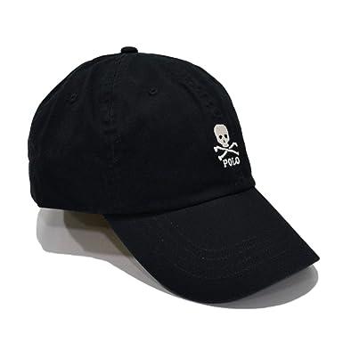 ee74dd7c Polo Ralph Lauren Mens Baseball Hat (One Size, Black) at Amazon ...