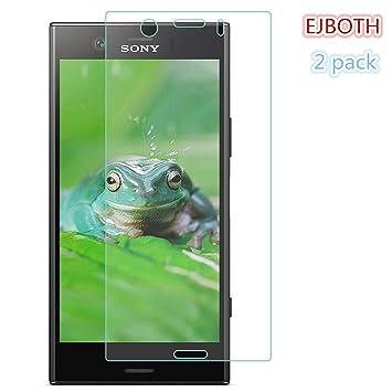 2x Sony Xperia XZ1 Compact Protectores de Pantalla, EJBOTH Vidrio templado Proyectar película protectora Cristal Transparente invisible Escudo protector de ...