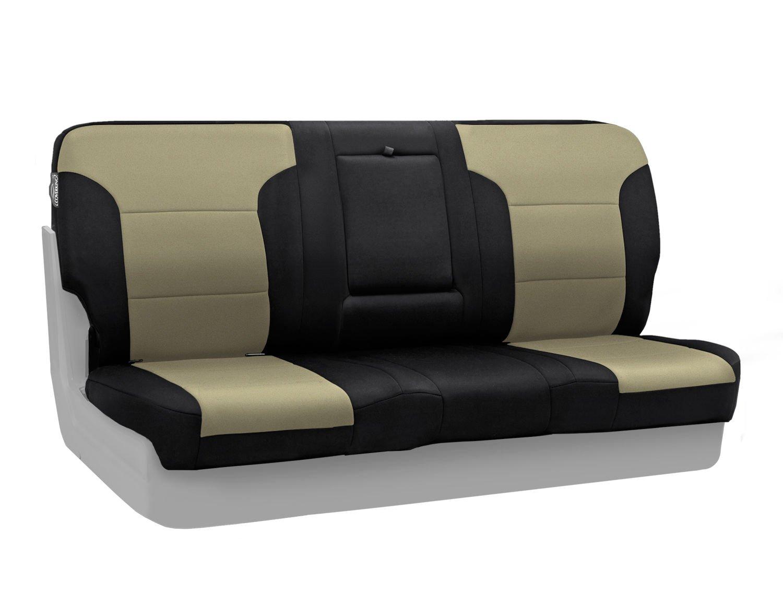 Coverking Custom Fit Seat Cover for Jeep Wrangler YJ 2-Door SPC173 Neoprene, Black//Charcoal