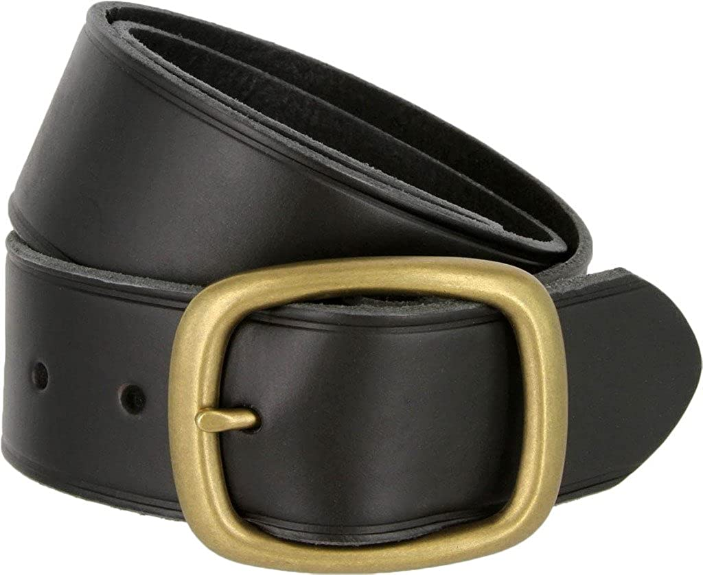 Tennessee Brass Buckle Leather Work and Uniform Casual Jean Belt for Men