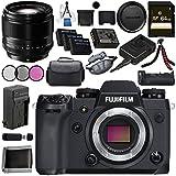 Fujifilm X-H1 Mirrorless Digital Camera (Body Only) 16568731 XF 56mm f/1.2 R Lens 16418649 VPB-XH1 Vertical Power Booster Grip Bundle