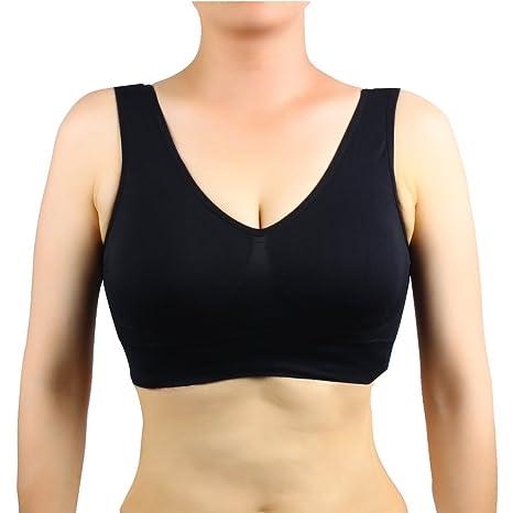 Conception innovante comment choisir dernière sélection Andux Nouveau Femmes yoga sportif brassière avec coussinets amovibles  SS-W06 Noir XXL
