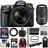 Nikon D7200 Wi-Fi Digital SLR Camera & 18-140mm VR DX & 55-300mm VR & 500mm Lenses with 64GB Card + Backpack + Battery + Monopod Kit Noticeable Review Image