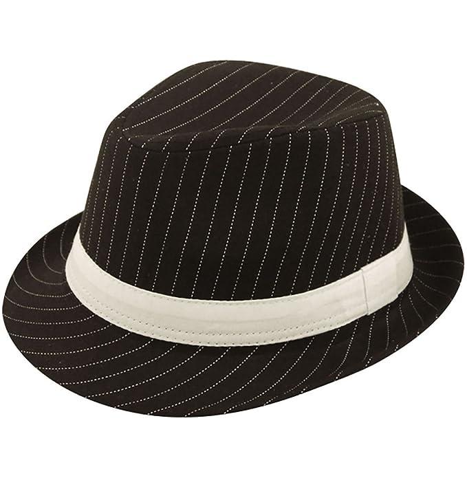 Ma Online negro funda de cabeza sombrero con rayas de color blanco para  hombre Fancy disfraz 7e6b0dea825