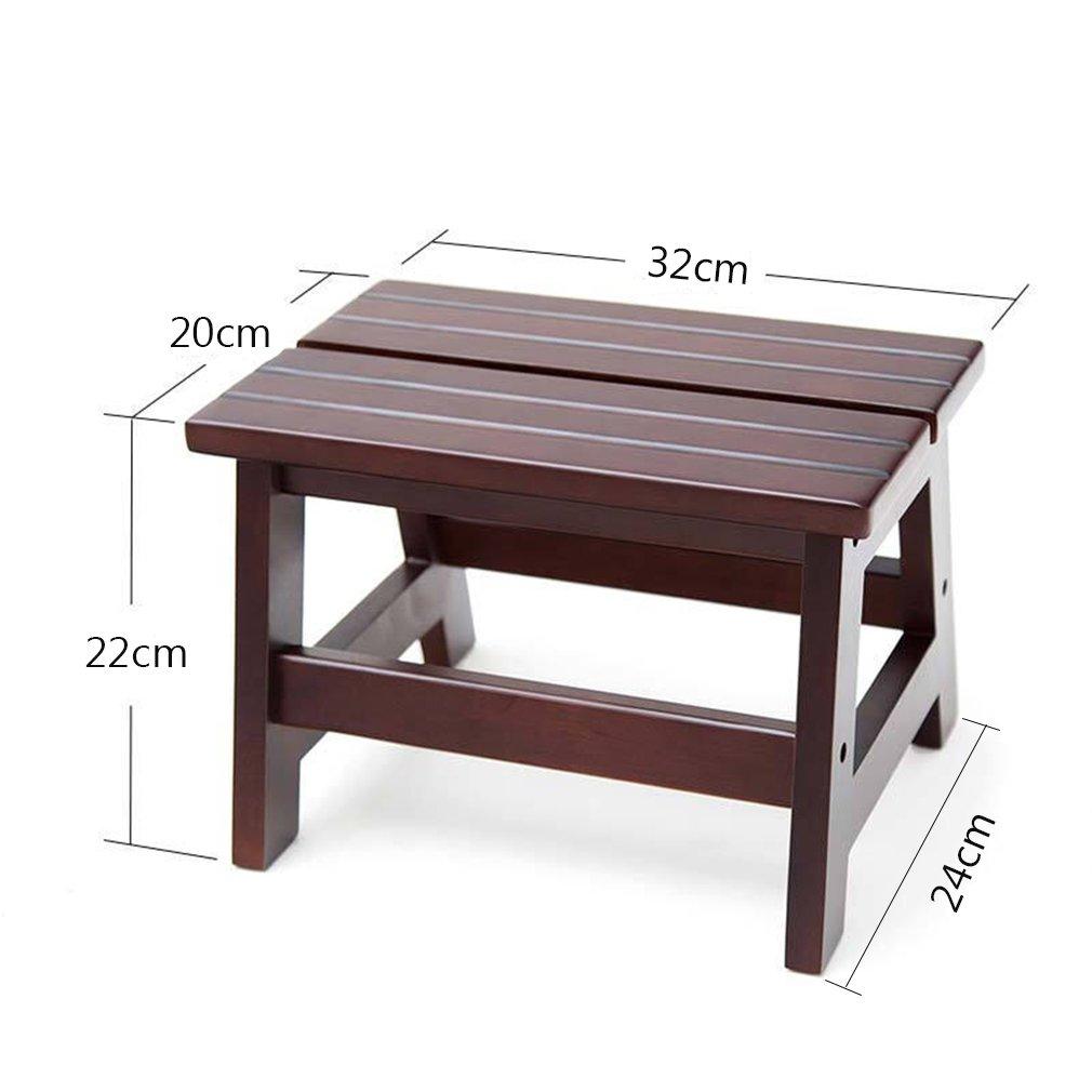 Amazon.com: Taburete de madera maciza para el hogar, para el ...
