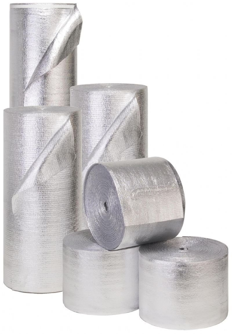 Reflective Foam Core Solid Vapor Barrier Sauna Duct Pipe Attic Wrap 3ft x 90ft by AES Industries