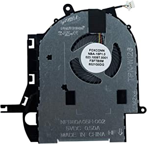 Rangale Replacement CPU Cooling Fan for HP Pavilion 15-BR 15-br004tx 15-br010nr 15-br068cl 15-br095ms 15-br077cl 15-br082wm 15-br158cl 15-br159cl 15-br160cl Series Laptop 924513-001