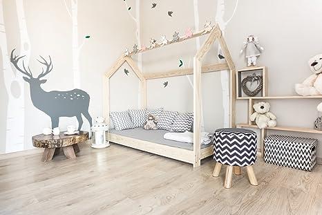 Oliveo Letto Casa In Legno Stile Scandinavo Nordico Bambino