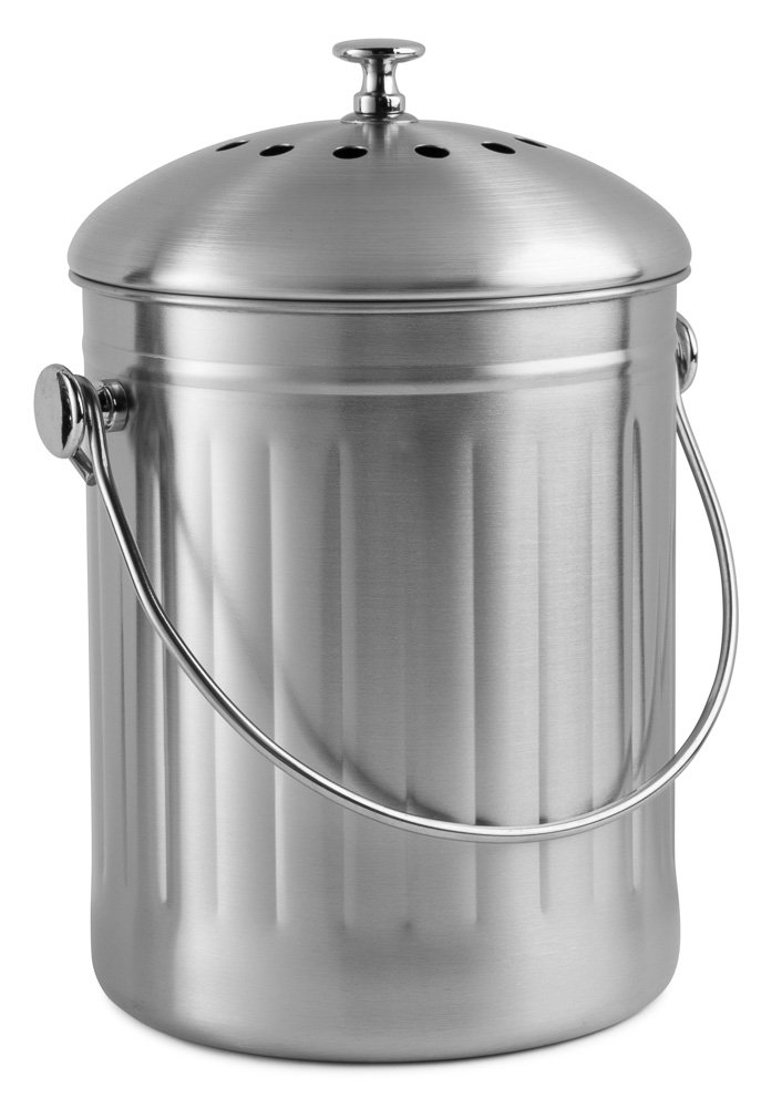 Chef's Star Stainless Steel Compost Bin 1 Gallon Chef's Star