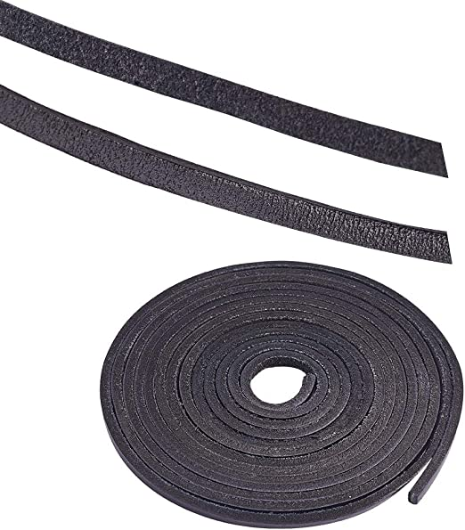 Real Leather Black 100 pcs String Lace For Jewellery Making /& Leather Crafting