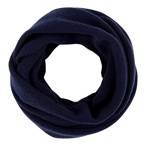 3739cb0acb4 Womens 100% Cashmere Snood 4 Plys Volume Classics - Blue Navy ...