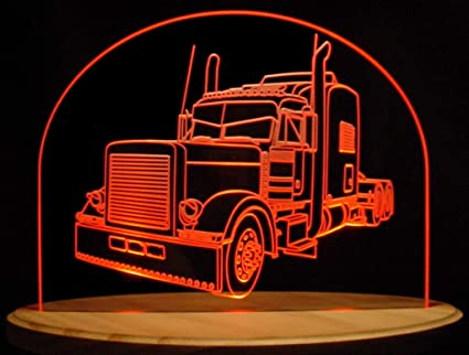 Led Lights For Semi Trucks >> Amazon Com Semi Truck 650a Acrylic Lighted Edge Lit Led